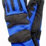 Gants bleu/noir pour pilote karting