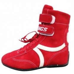 Chaussures hautes rouges pour pilote karting