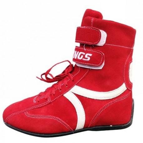 Chaussures hautes rouges pour pilote karting