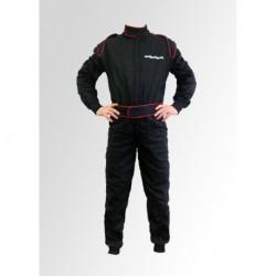 Combinaison karting noire en coton