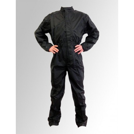 Combinaison pluie en nylon noire