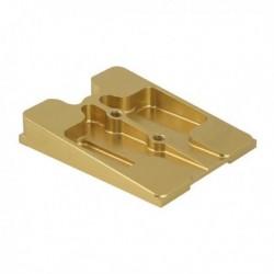 Platine complète en aluminium doré 30 x 92mm