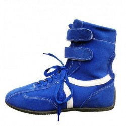 Chaussures hautes bleues pour pilote karting