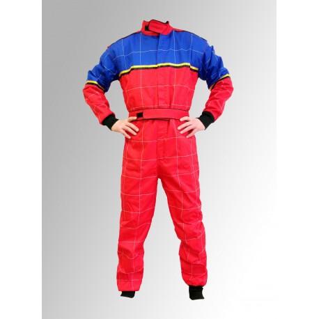 combinaison karting cordura bleue rouge pas ch re equipement karting. Black Bedroom Furniture Sets. Home Design Ideas