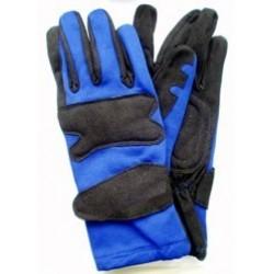Gants bleu/noir