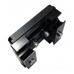Platine complète en aluminium noire 92mm