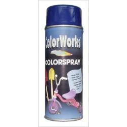 Bombe de peinture brillante bleue