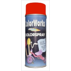 Bombe de peinture brillante rouge