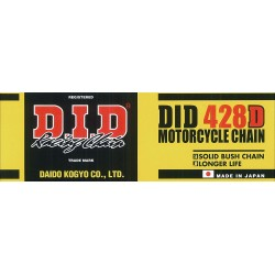 Ketting DID 428 Goud vr 125cc gear box en 4T 80 schakels (1m)