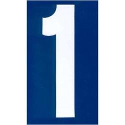 Witte cijfers stickers voor karting