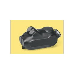 Boite à air tubes frontaux 23mm noir